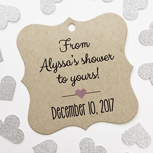 from my shower to yours kraft bridal shower favor tags fs 067 kr
