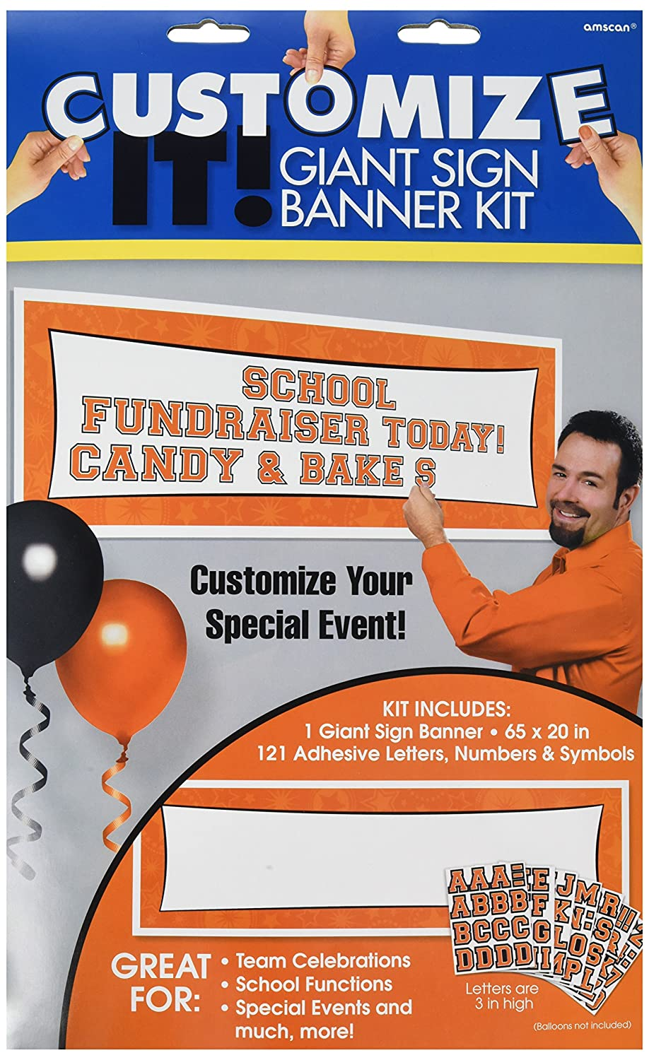 Party Decor 12 Ct 129567.14 Amscan Purple Customizable Giant Banner TradeMart Inc