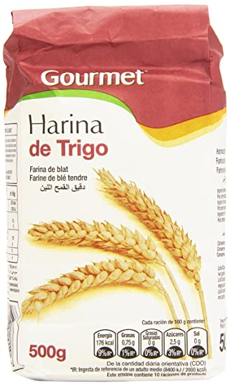 Gourmet - Harina de trigo - Contiene gluten - 500 g