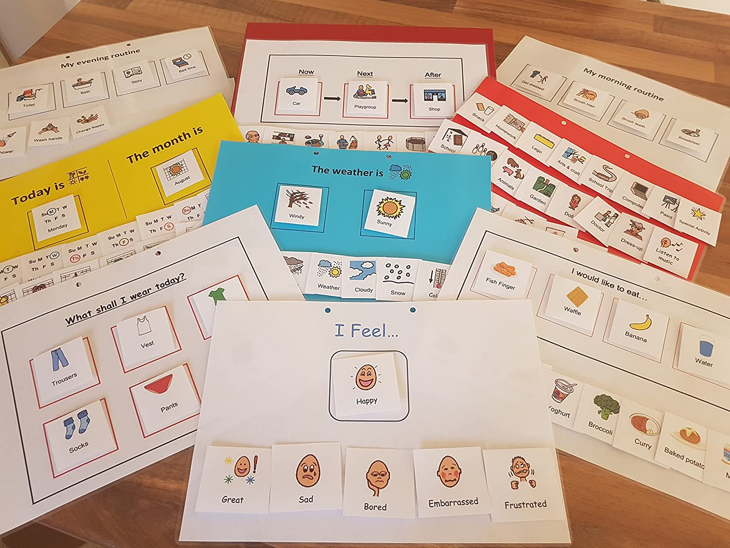 Learning Fun resources Communication folder  visual aid, Autism, Routine, Now and next board