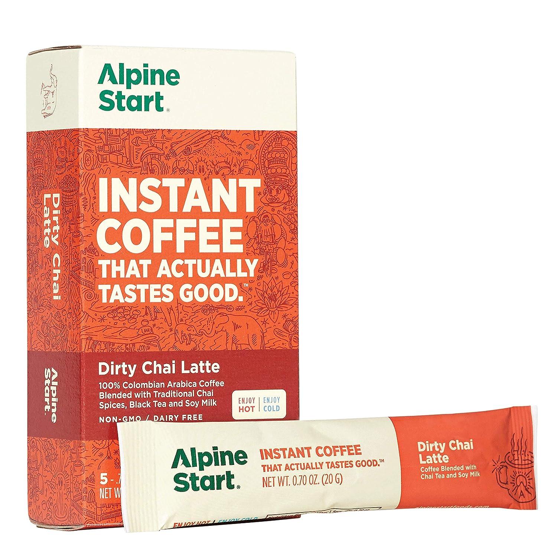 Alpine Start, Dirty Chai Latte Instant Coffee, 3.5 Ounce
