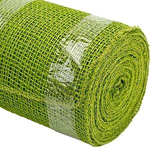 Kel-Toy Jute Burlap Ribbon, 4-Inch by 10-Yard, Apple Green