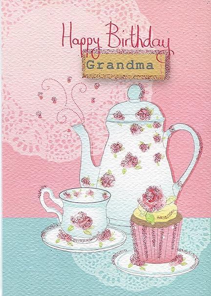 Feliz cumpleaños abuela - sólo escribir Tarjeta de ...