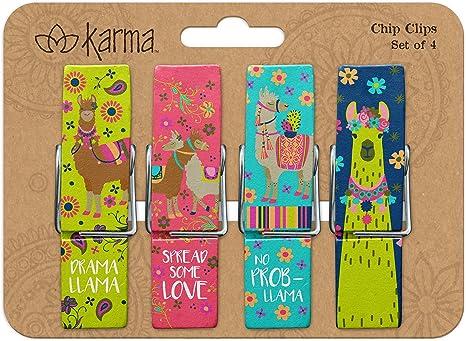 Karma Gifts Chip Clips, OS, Llama
