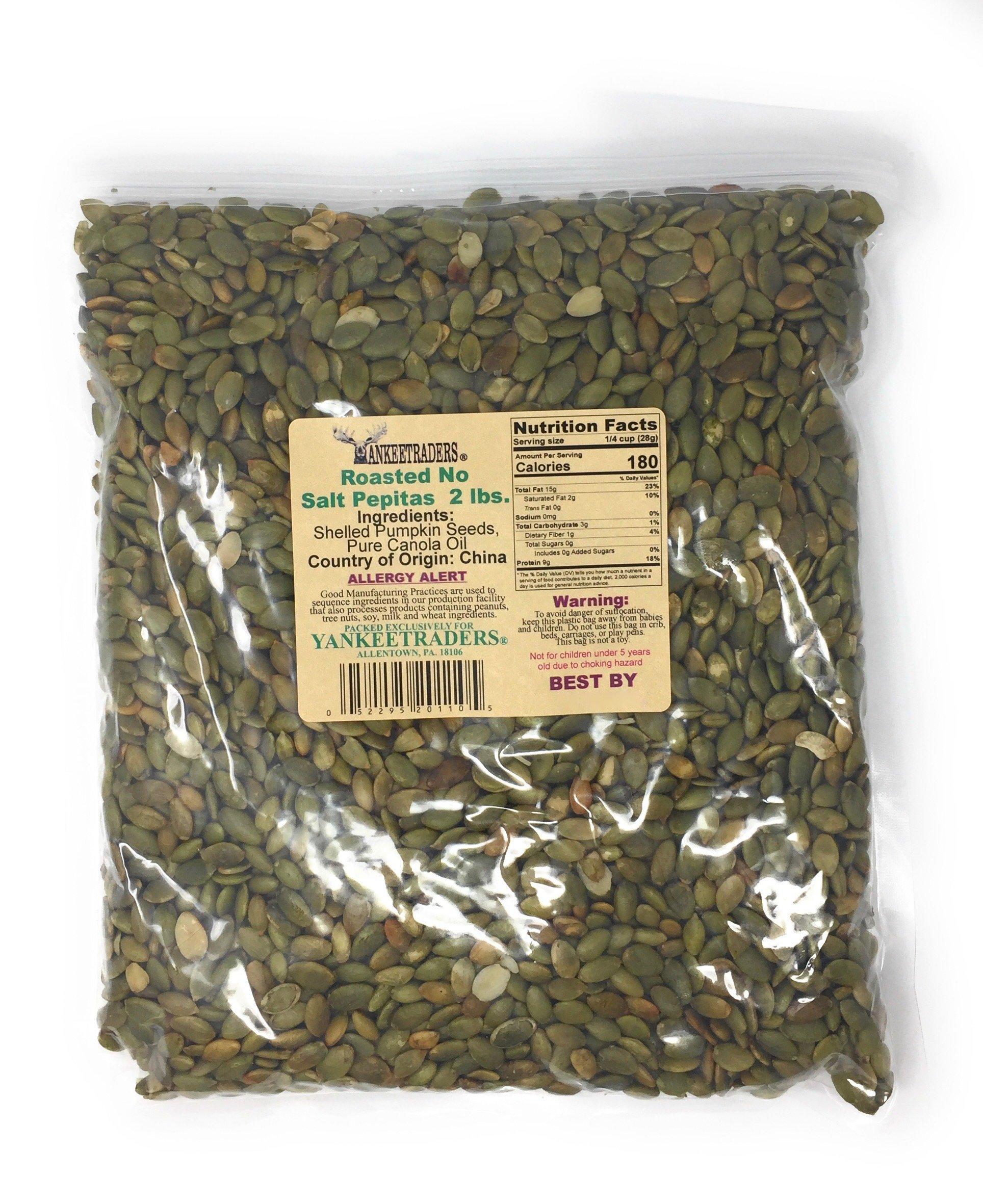 Yankee Traders Pepita/Pumpkin Seeds, Roasted, No Salt Added, 2 Pound by YANKEETRADERS