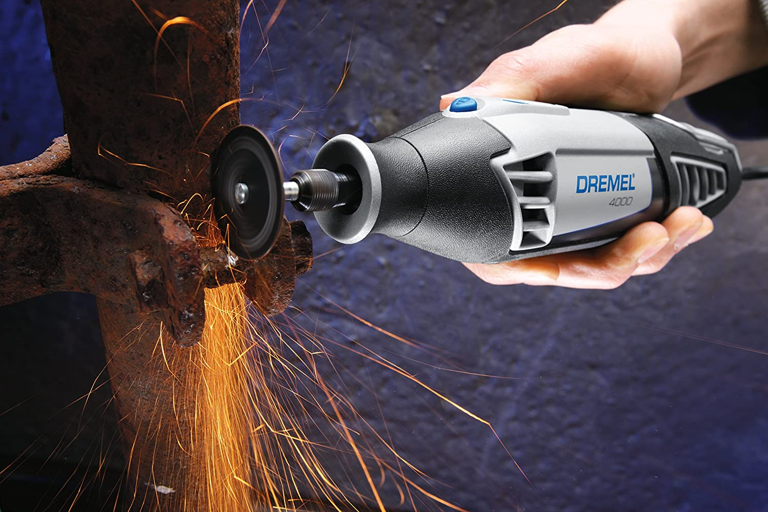 Cut Metal using rotary tool with grinding disk
