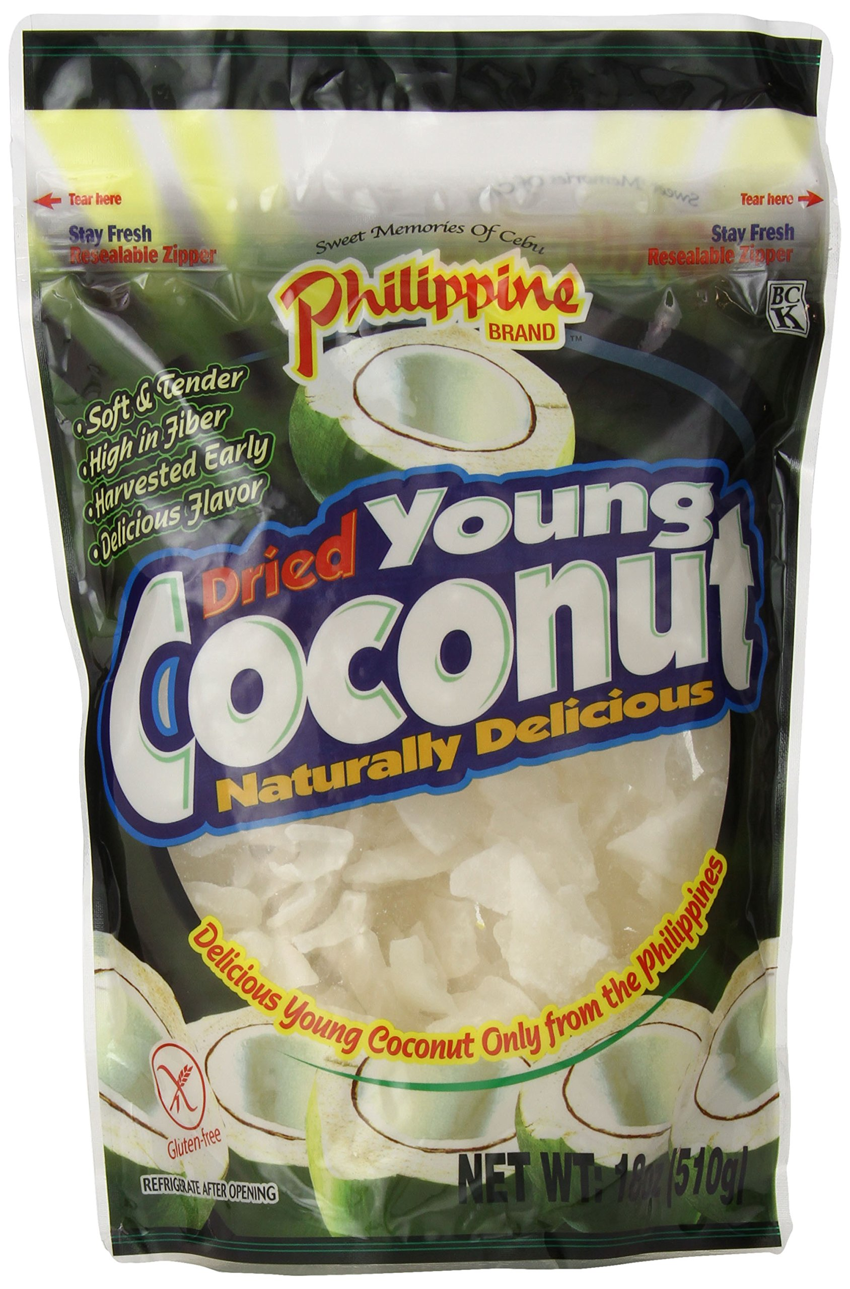 Philippine Brand Dried Young Coconut Snacks, 18 Ounce by Philippine