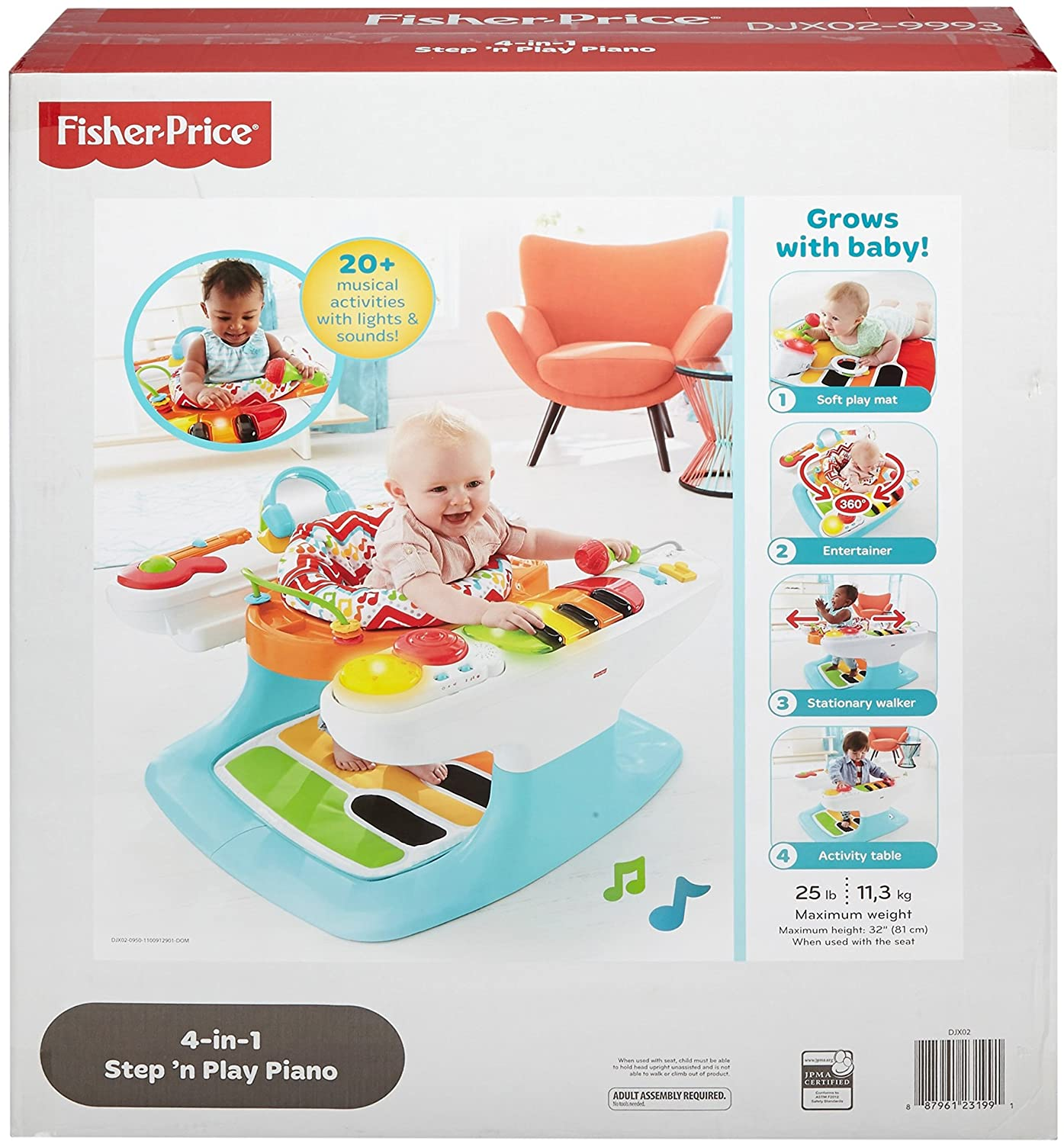 Amazon.com: Fisher-Price - Piano 4 en 1: Baby