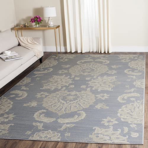 Safavieh Vintage Collection VTG578L Transitional Light Blue and Ivory Distressed Area Rug 8 x 11