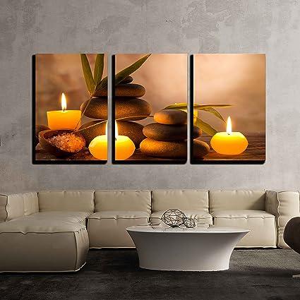Amazon Com Wall26 3 Piece Canvas Wall Art Spa Still Life With