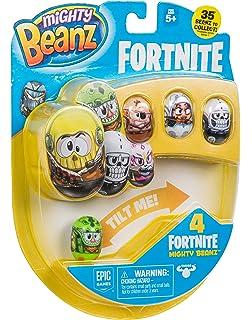 Bambini Giocattoli Regali UK Mighty Beanz Fortnite BATTLE ROYALE 4 Pack-stili possono variare