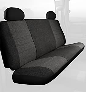 Fia OE39-2 CHARCCustom Fit Front Seat Cover Bench Seat - Tweed, (Charcoal)