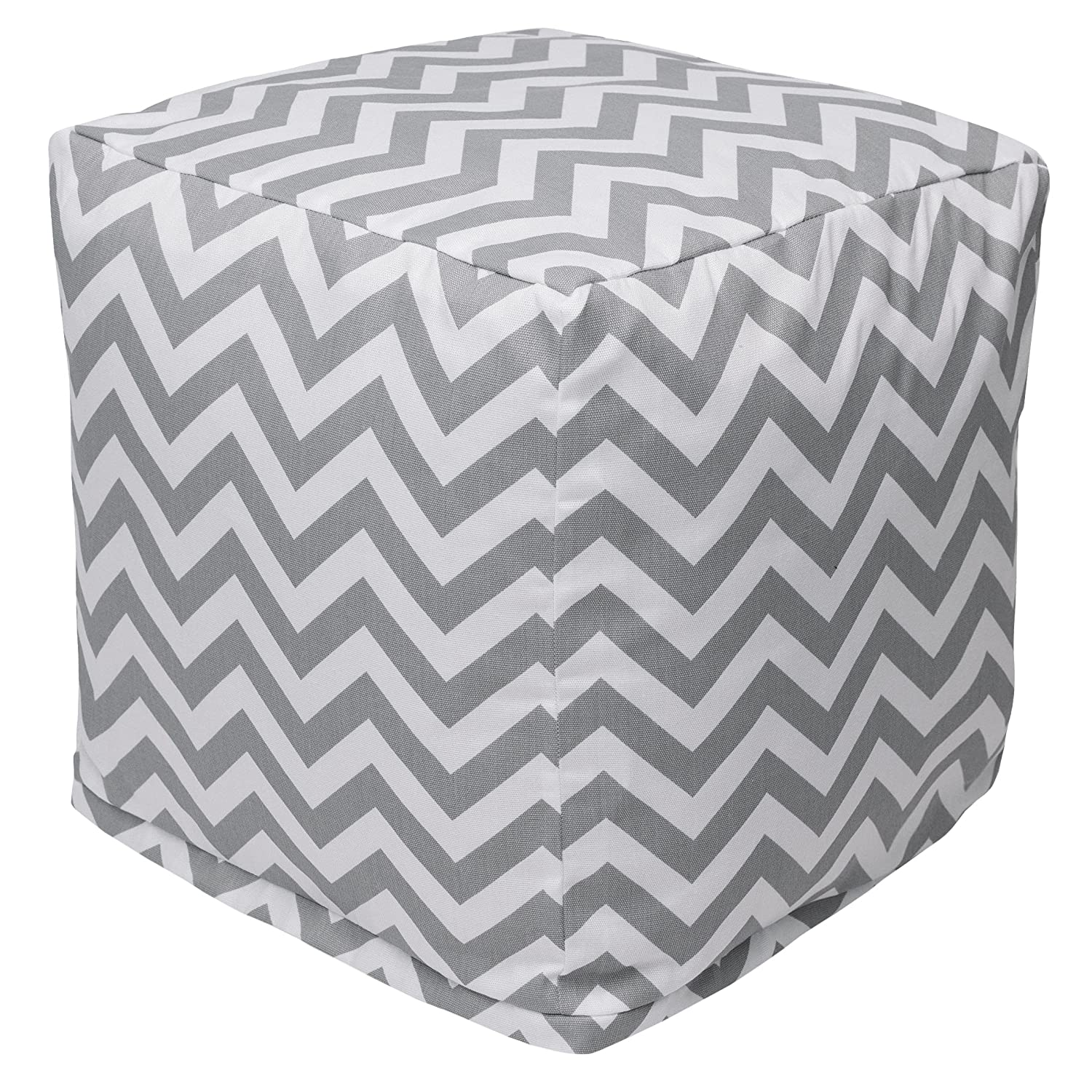 Majestic Home Goods Baby Pink Chevron Indoor Bean Bag Ottoman Pouf Cube 17