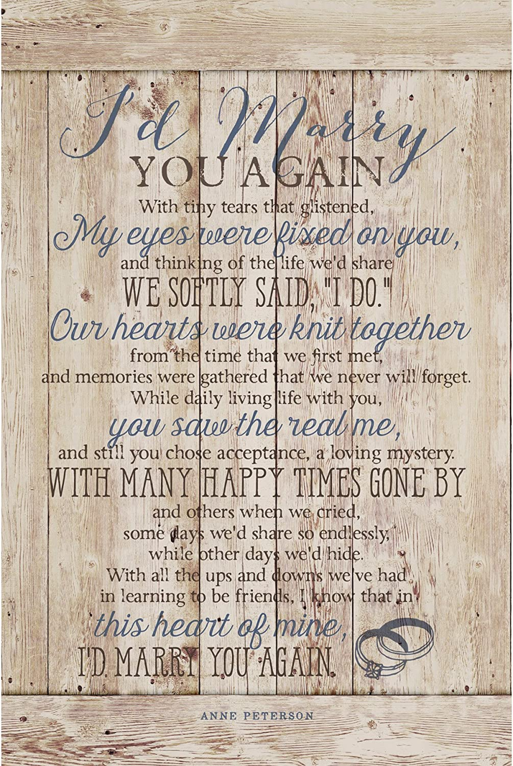 Dexsa I'd Marry You…New Horizons Wood Plaque with Easel