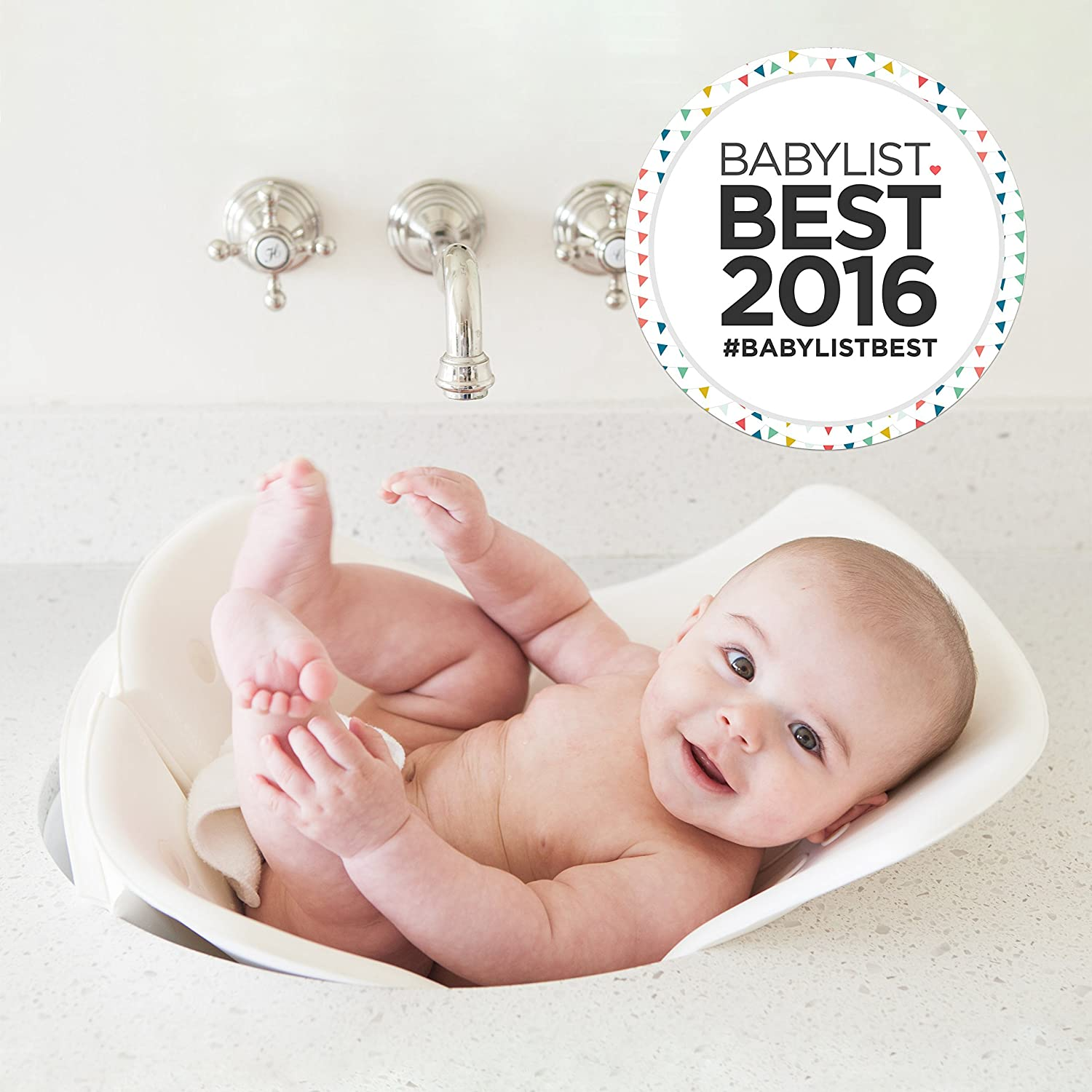 Amazon.com : Puj Tub   The Soft, Foldable Baby Bathtub   Newborn, Infant,  0 6 Months, In Sink Baby Bathtub, BPA Free, PVC Free (White) : Baby Bathing  Seats ...