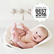 Puj Tub - The Soft, Foldable Baby Bathtub - Newborn, Infant, 0-6 Months, In-Sink Baby Bathtub, BPA free, PVC free (White)