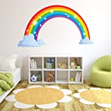 Style & Apply Sparkling Rainbow Wall Decal by Wall Sticker, Vinyl Wall Art, Home Decor, Wall Mural - SD3065-24x13