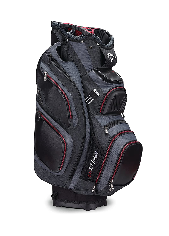 Callaway Golf 2017 Org 15カートバッグ B01MQ2EBAZ Black/Titanium/Red Black/Titanium/Red