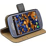 mumbi Ledertasche im Bookstyle für Samsung Galaxy S3 mini Tasche schwarz