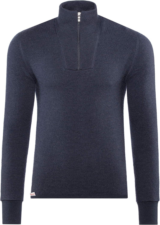 Woolpower 400 Sweat-Shirt /à col roul/é avec Demi-Zip Pine Green 2019 sous-v/êtement
