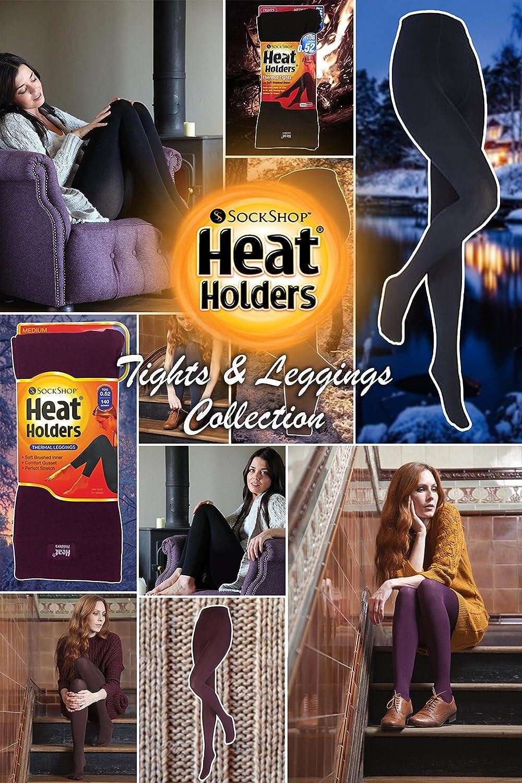 Womens GENUINE Heat Holders Thermal Leggings Black