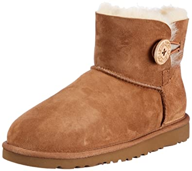 Womens Ugg, Mini Bailey Button ankle boots CHESTNUT 5 M