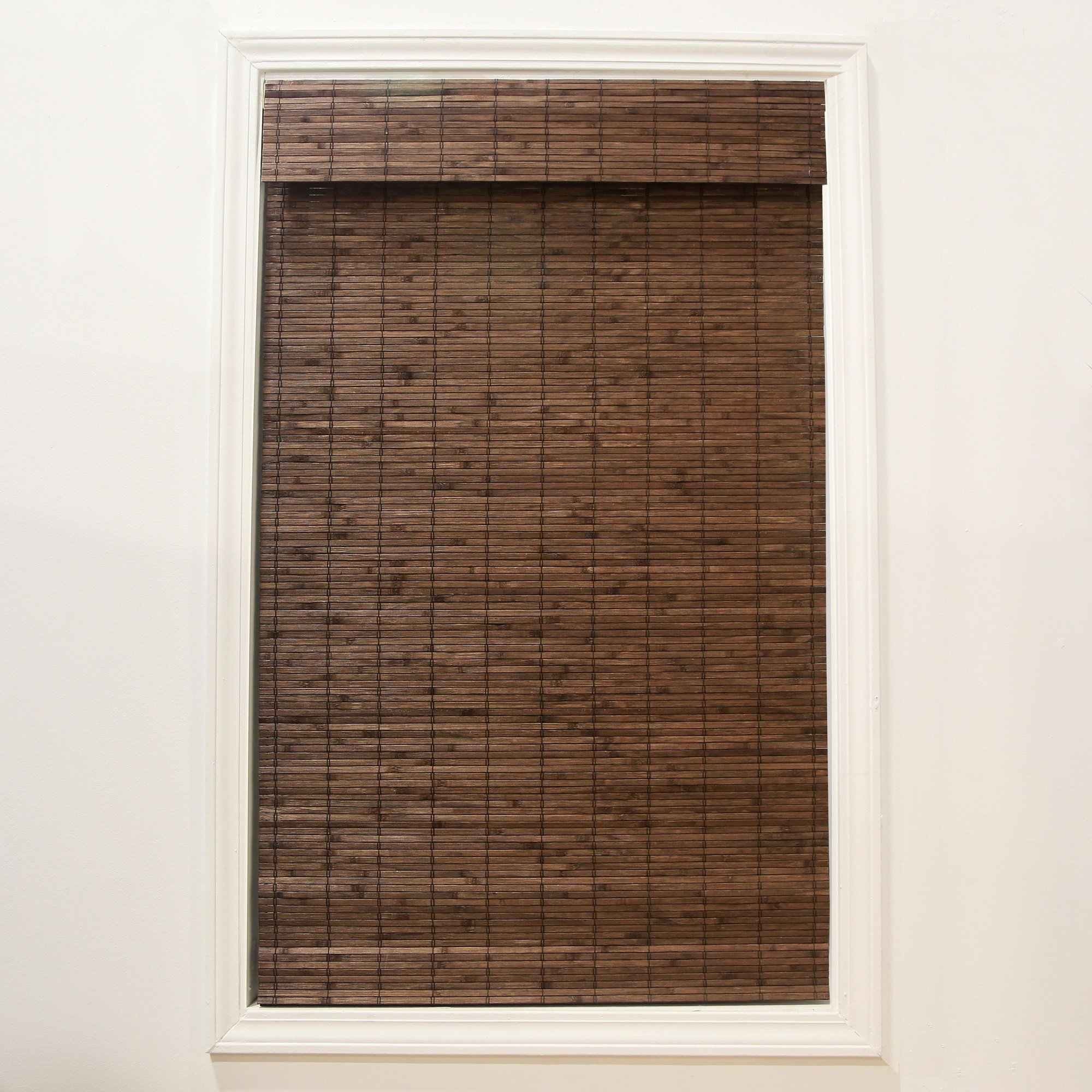 RADIANCE Cordless Dockside Flatstick Bamboo Roman Shade, 39 in. W x 64 in. L, Cocoa by RADIANCE