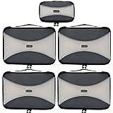 PRO Packing Cubes   Ensemble économique de sacs de rangement de voyage 5 pièces   Sacs économisant 30% de place   Organiseurs de bagage ultralégers   Idéal pour les sacs de voyage & valises de cabine