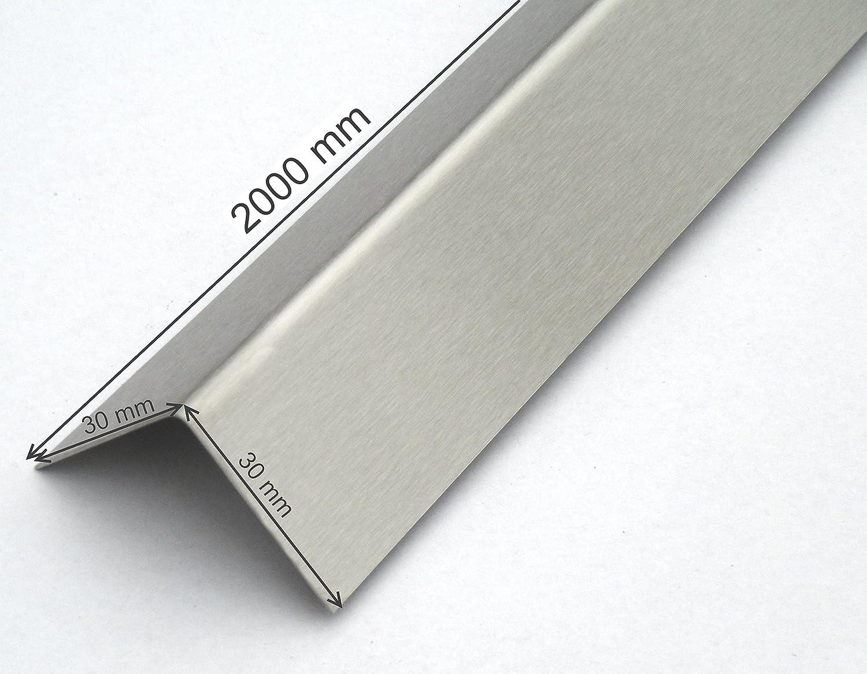 2 Meter Edelstahl Winkel hochglanz poliert,0,8mm stark 3fach Winkelblech 3-fach gekantet Winkelprofil Edelstahl Kantenschutz Wand Kantenschutzprofil