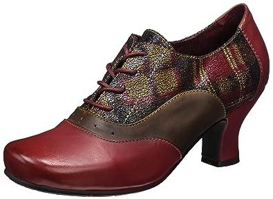 Laura VitaCandice 100 - Zapatos Planos con Cordones Mujer, Color Rojo, Talla 37