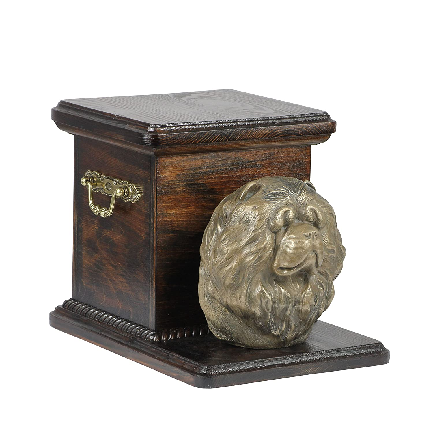 Chow Chow, memorial, urn for dog's ashes, with dog statue, ArtDog