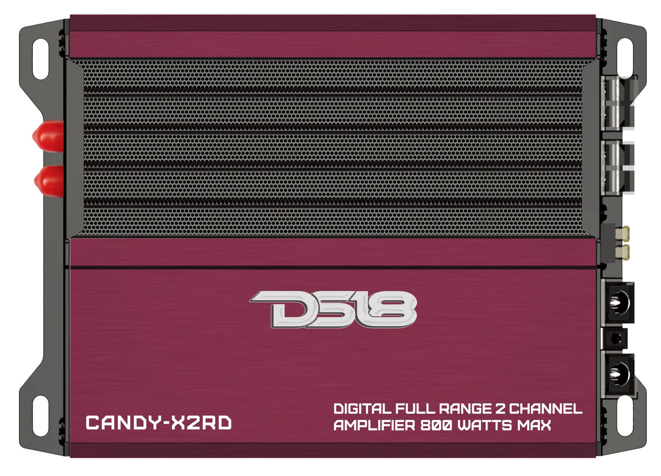 DS18 CANDY-X2RD Red 800 Watts Max Digital Full Range 2 Channel Class D Amplifier