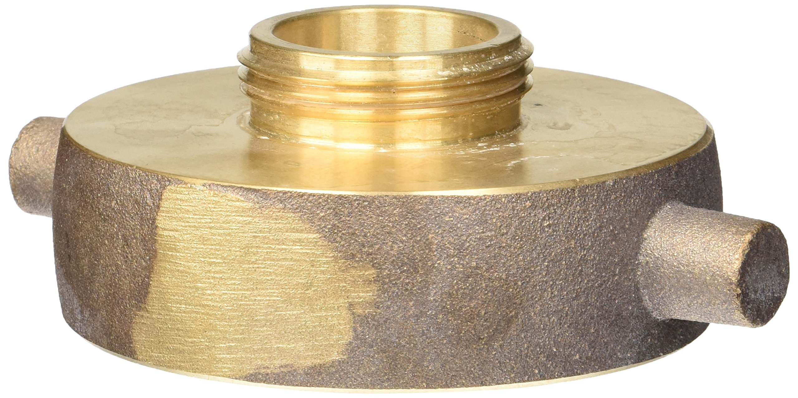 Dixon Valve HA3015F Brass Fire Equipment, Hydrant Adapter with Pin Lug, 3'' NST (NH) Female x 1-1/2'' NST (NH) Male