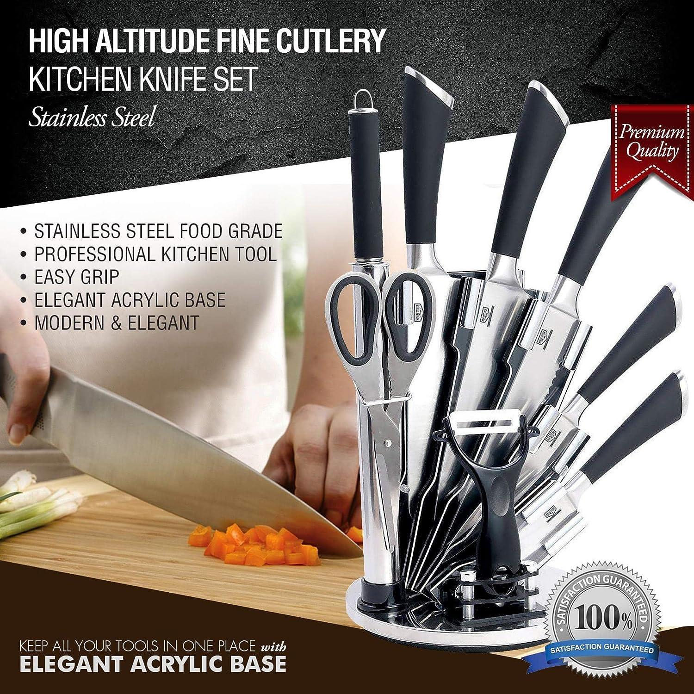 amazon com kitchen knife set stainless kitchen dining
