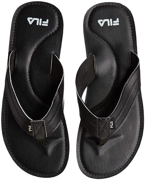 d716c9935 Fila Men s Lorenzo Black Flip Flops Thong Sandals-6 UK India (40 EU ...