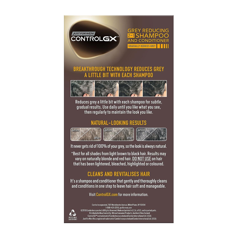 Champú y Acondicionador 2 en 1 Just For Men Control GX para reducción de canas (147 ml): Amazon.es: Belleza
