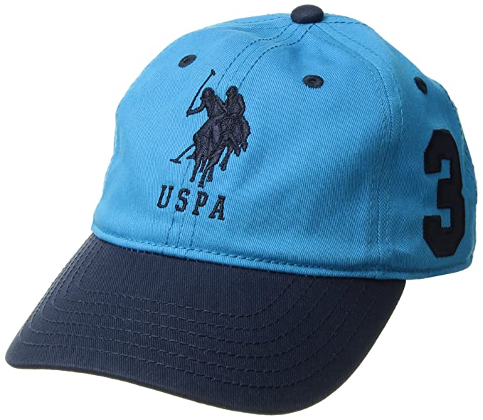 "U.S. Polo Assn. Boys Big Color Horse 3"" Patch Baseball Cap, Teal"