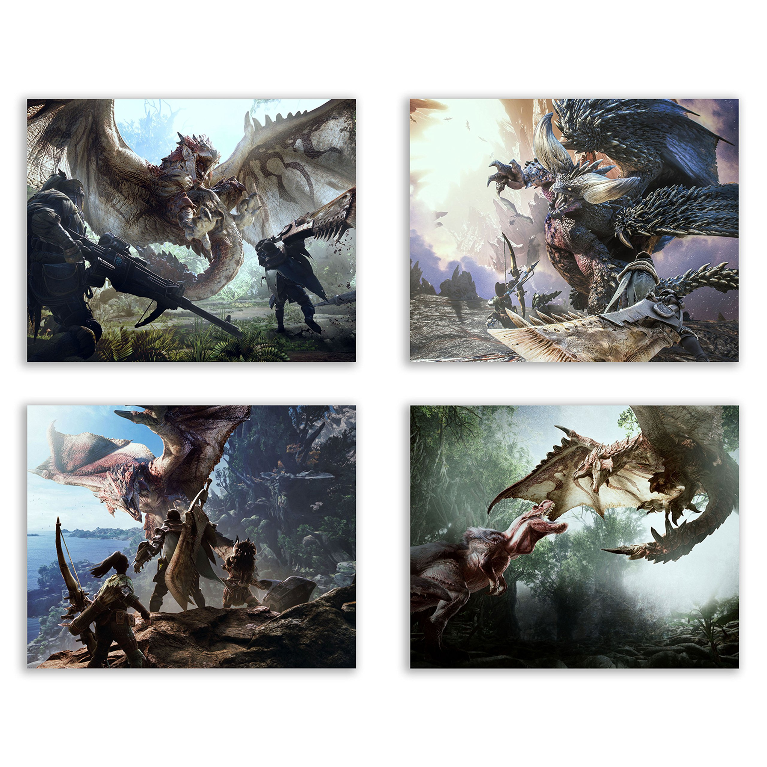 Crystal Monster Hunter World Prints - Rathalos - Anjanath -.