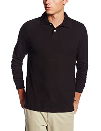 7f4f26b262b0 Lee Uniforms Men's Modern Fit Long Sleeve Polo at Amazon Men's ...