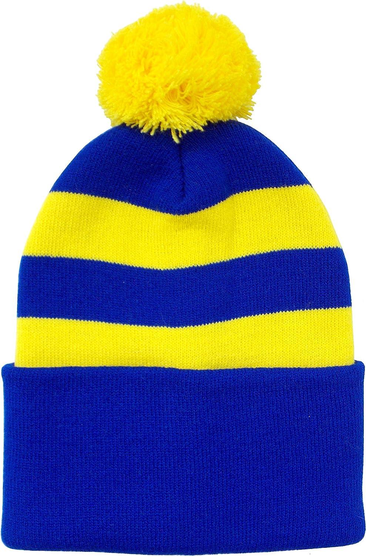 Arena Bleu et Jaune Style r/étro Bobble Chapeau