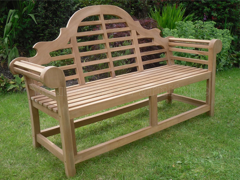 Garden chairs gt ascot teak garden companion seat bench garden tete - Marlborough Teak 150cms 5ft Lutyens Style Garden Bench For Your Patio Amazon Co Uk Garden Outdoors