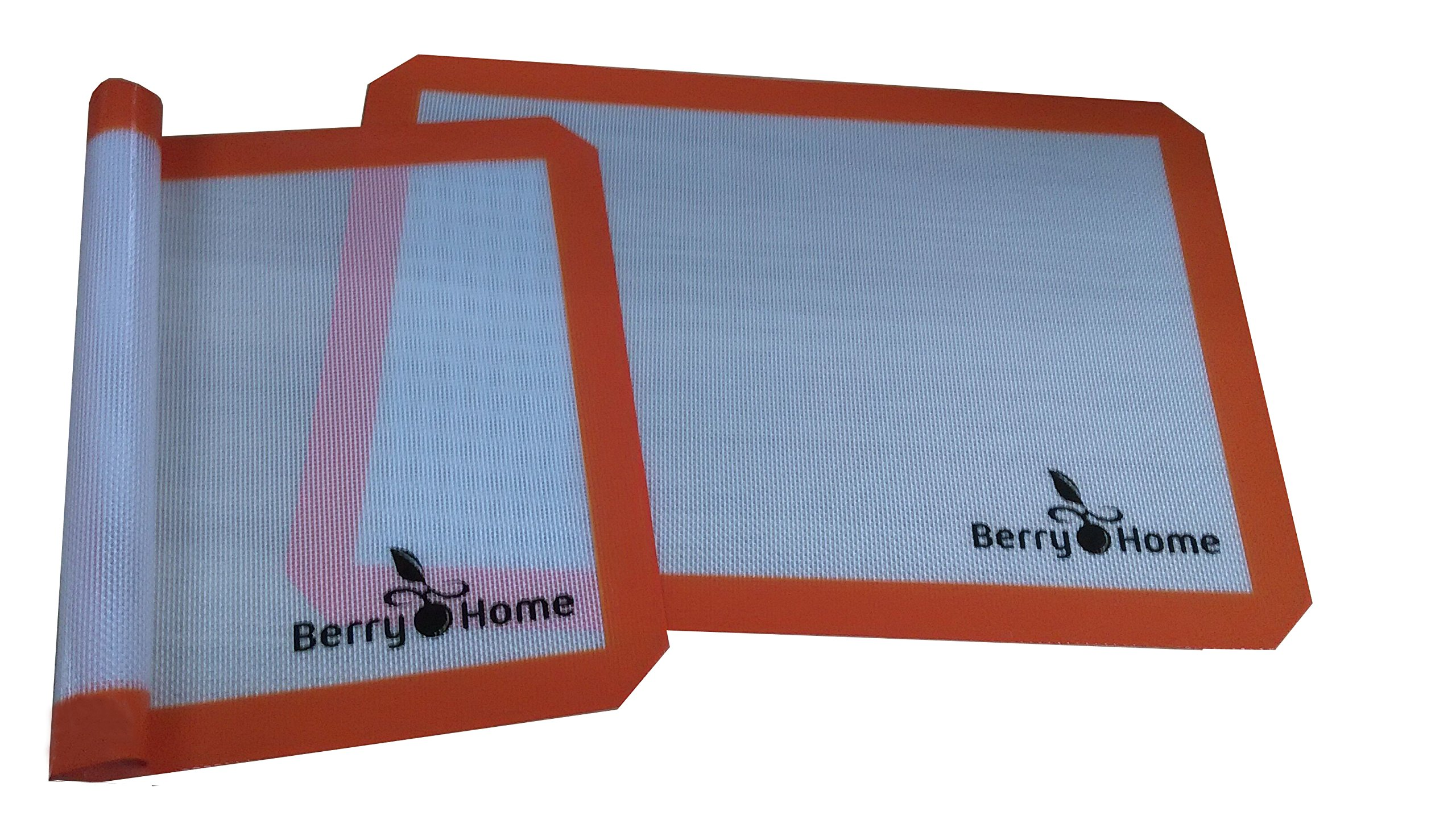 Silicone Baking Mat Parchment Replacement for Baking and Rolling Pizza Dough by Berry Home - 2 Pack by Berry Home (Image #3)
