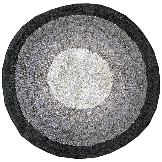 Just Contempo Tapis De Bain Rond 100 % Coton Lavable Tissu-Éponge