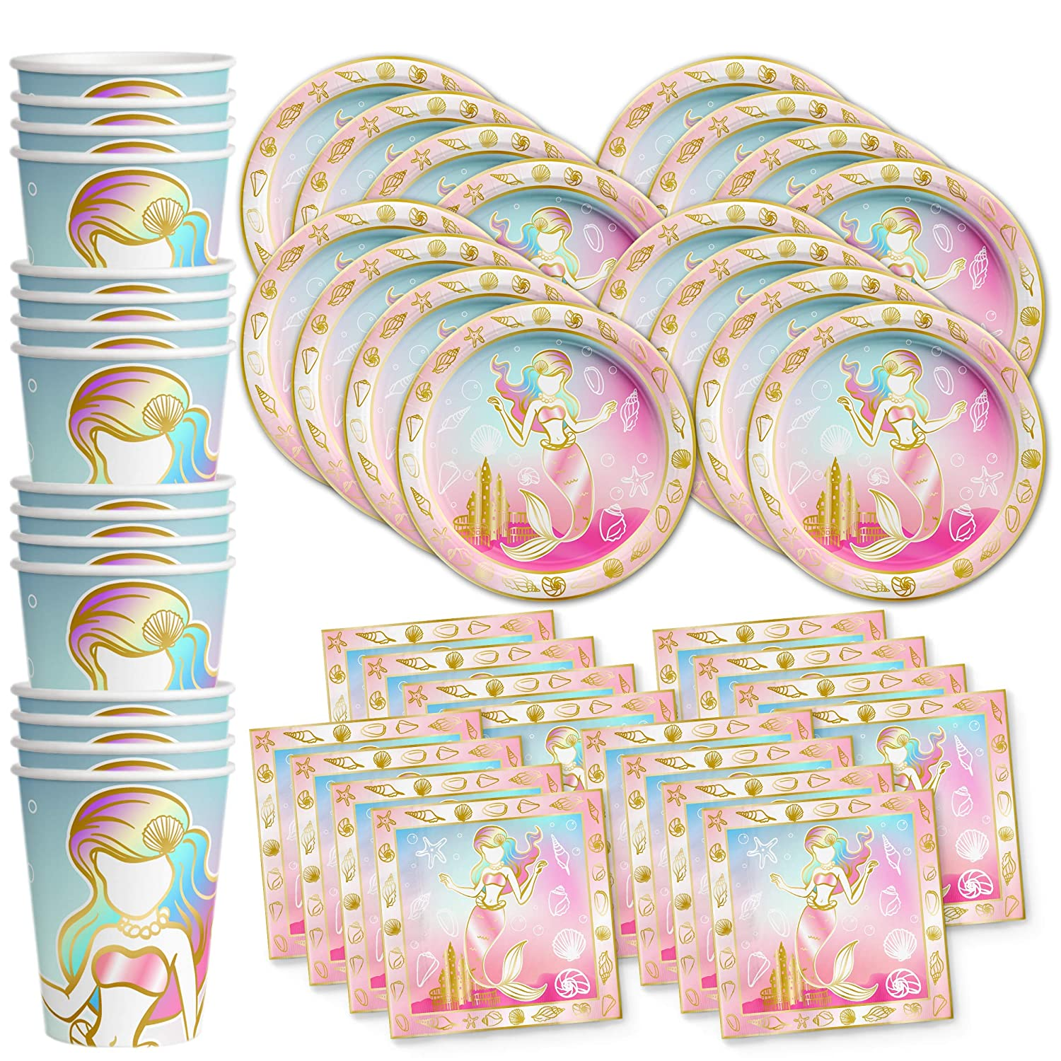 Mermaid Party Bundles for 16 Guests Page Two