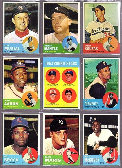 1963 Topps Baseball Reprint 10 Card Lot Featuring