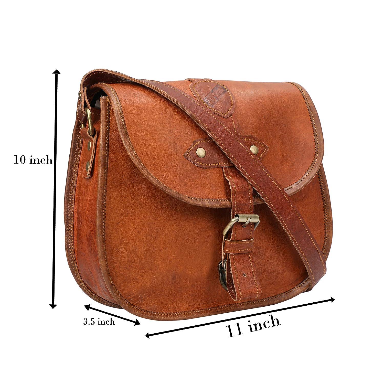 Vintage Real Leather Shoulder Crossbody iPad Tablet Satchel Red Brown mini bag