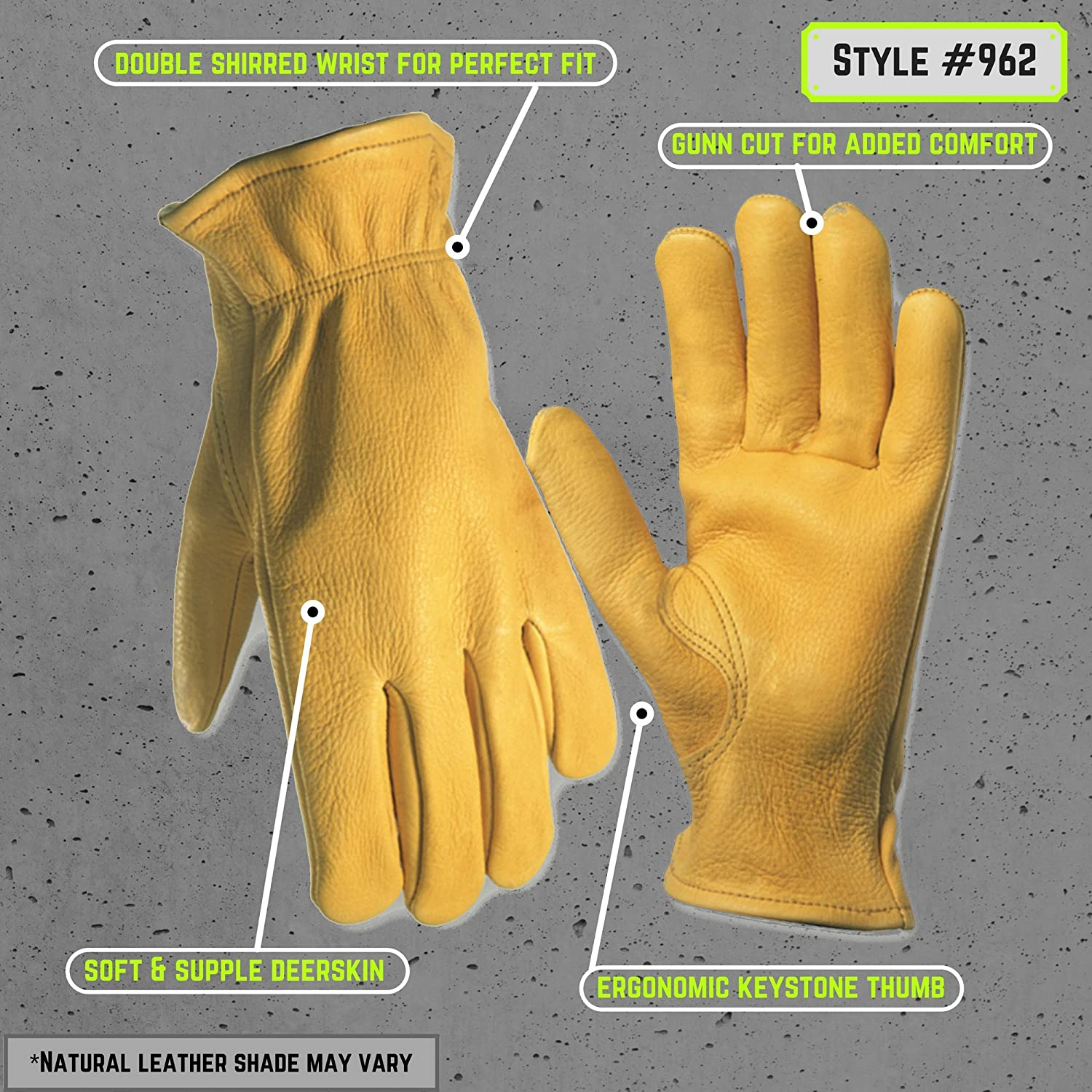 Insulated leather work gloves amazon - Deerskin Driver Gloves Full Leather Work And Driving Gloves Large Wells Lamont 962l Deer Skin Work Gloves Amazon Com