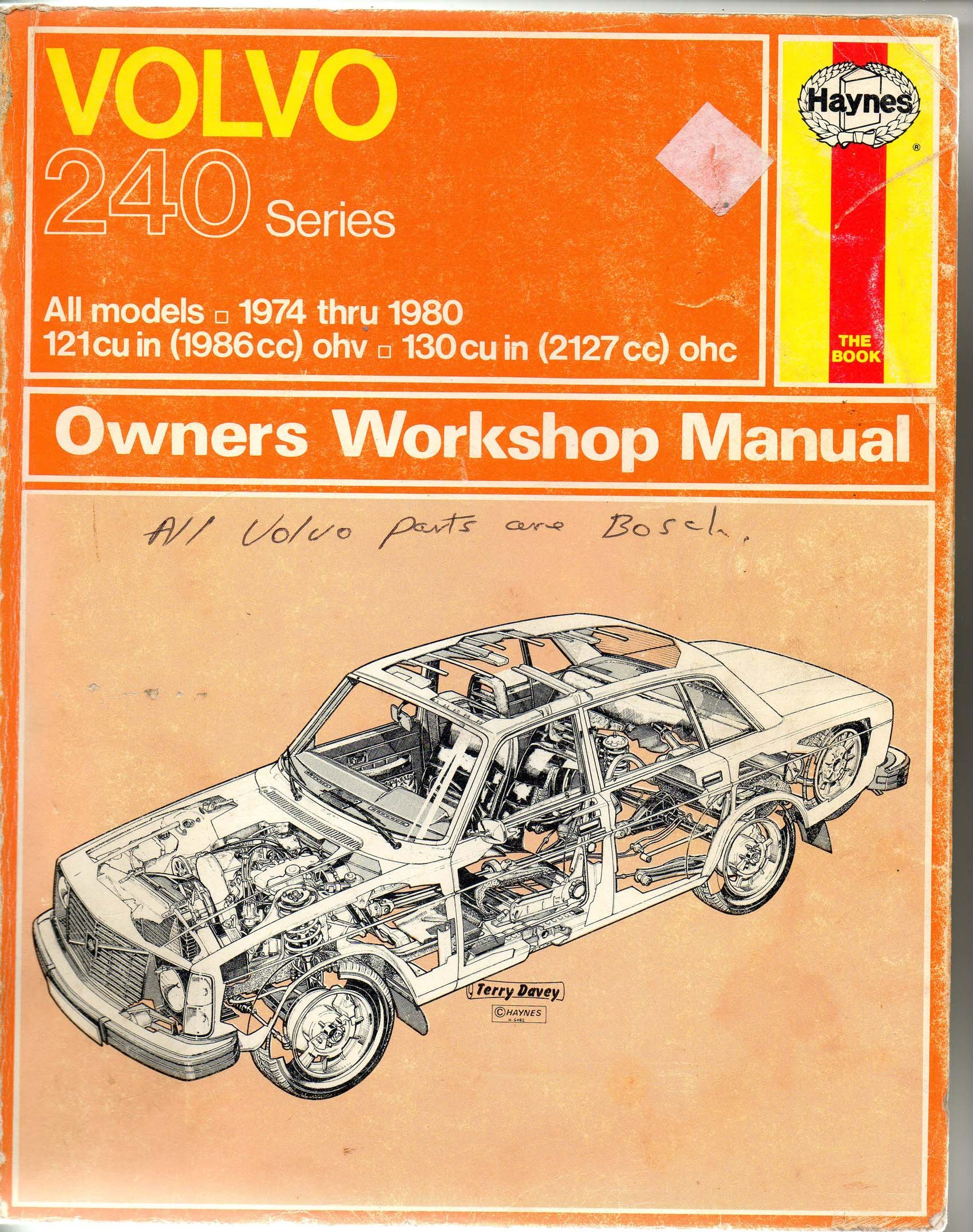 Volvo 240 Series Owners Workshop Manual: J H And Gilmour, Bruce. Haynes:  Amazon.com: Books