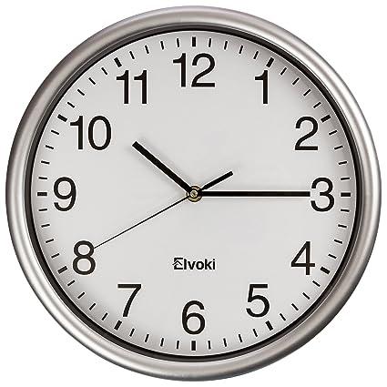 Elvoki Best Wall Clock, 12.5 Inch Quartz With Arabic Numerals U2013 Office,  Classroom Clock