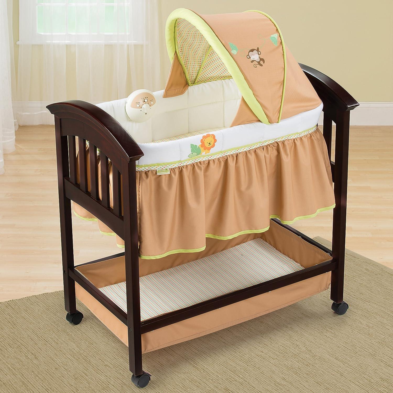 Amazon.com : Summer Infant Classic Comfort Wood Bassinet, Swinginu0027 Safari :  Bassinet Furniture : Baby